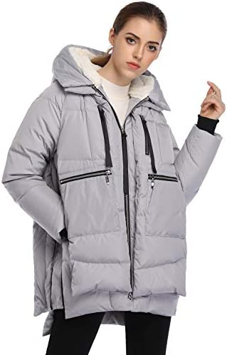 FADSHOW Women's Winter Thickened Down Jackets Long Down Coats Warm Parka with Hood