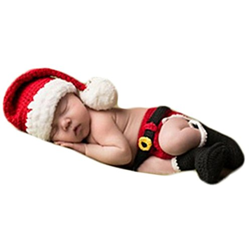 Baby Photography Props Boy Girl Photo Shoot Outfits Newborn Crochet Christmas Clothes Hat Shorts Boot