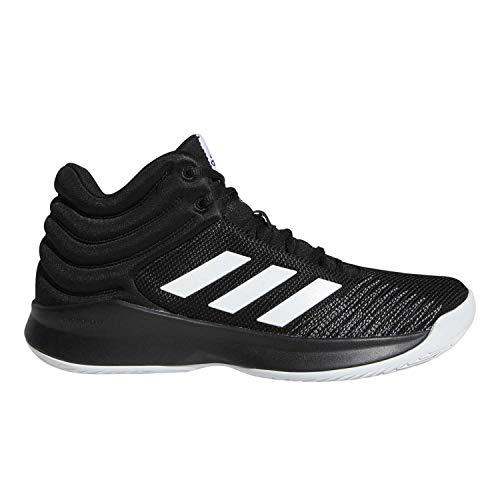 adidas Mens Pro Spark 2018 Basketball Shoe, Black/White/Grey, 9.5 M US