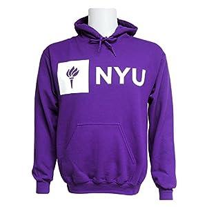 Amazon.com : NYU Violets Adult Just Logo Hooded Sweatshirt ...