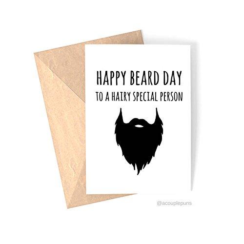 Amazon Beard Day Birthday Card Funny