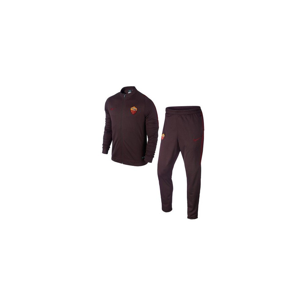 66c76f60d9 Nike 2015-2016 AS Roma Knit Tracksuit (Mahogany) - Kids: Amazon.it: Sport e  tempo libero