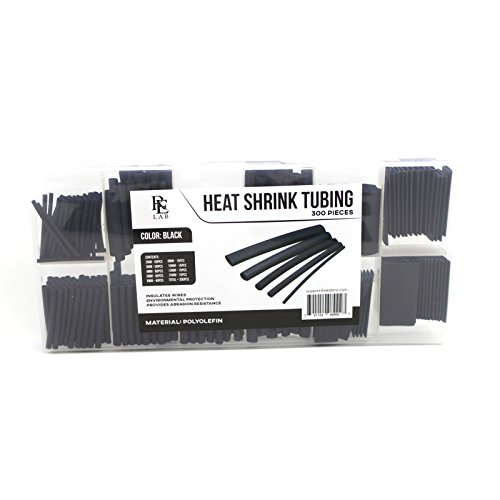 300 pcs Heat Shrink Tube Wire Wrap Cable Sleeve Set - Assorted Sizes with Case - RE LAB INC.