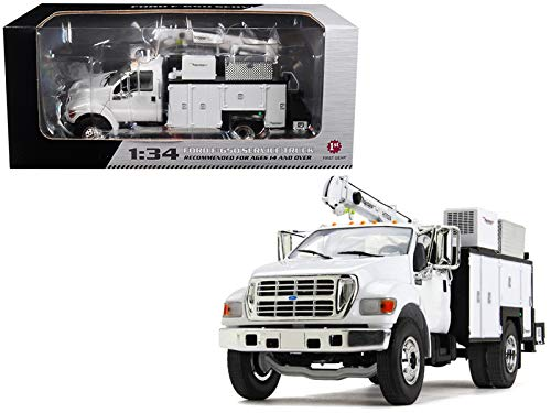 StarSun Depot Ford F-650 Maintainer Service Body White 1/34 Diecast Model Car First Gear