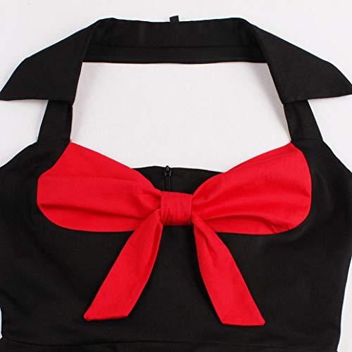 Robes Vente Subfamily soire Hepburn Imprim 1950's Noir Robe de De Meilleure Robe pin Vintage Cocktail Robe Elgante Audrey up EwwdBqr