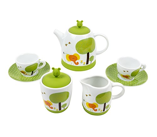 Backyard Safari Children's Tea Set by Green Tea Toys - (Believe Porcelain)