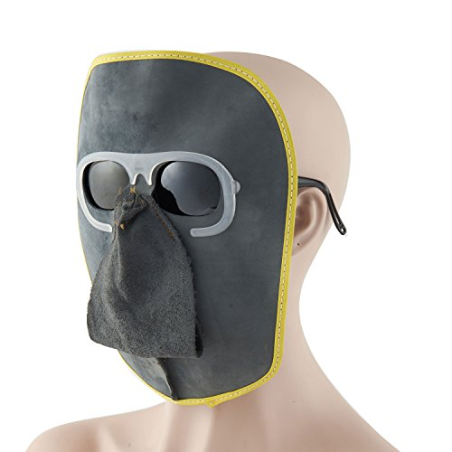 Joyutoy Welding Mask Cowhide Leather Comfortable Welding Hood Helmet With Clear Goggles/Grey Goggles/Black Goggles