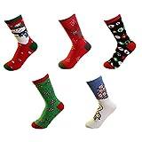 5 Pairs Women Socks Colorful Christmas Socks Warm Cotton Socks from Zaptex