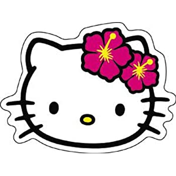 Licenses products hello kitty head shot sticker