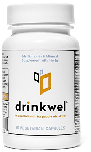 Drinkwel for Hangovers, Nutrient Replenishment & Liver Support (30 Vegetarian Capsules with Organic Milk Thistle, N-acetyl Cysteine, Alpha Lipoic Acid, and DHM) (Travel Size Bottle) by drinkwel