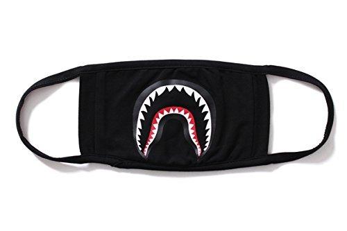 Camping First Aid Kits Bape Black Black Shark Face Mask (black)
