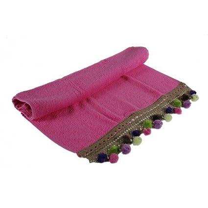 CAL FUSTER - Toalla Conjunto 3 piezas rosa pompones