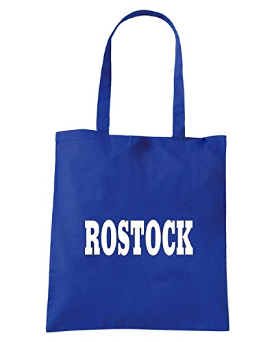 T-Shirtshock - Bolsa para la compra WC0827 ROSTOCK GERMANY CITY Azul Real