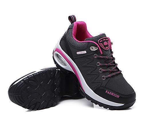 Aitaobao Leather Foam Grey Walking Lightweight Ladies Hiking Women Waterproof Trekking Comfort Memory Shoes ggxq7rn5