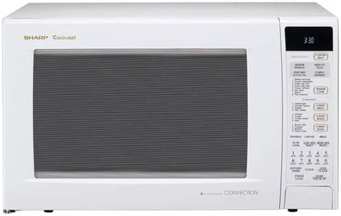 Sharp R-930AW 1-1/2-Cubic Feet 900-Watt Convection Microwave, White