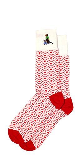 Unique Japanese Patterned Men's Pima Cotton Dress Socks, Mid ()