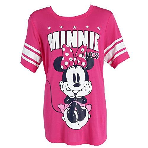 Plus Size Disney (Disney Minnie Mouse Plus Size Short Sleeve Jersey Shirt, 3X,)