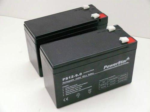 PowerStar PS12-9-POWERSTAR-2PACK20 12V 9Ah Battery Razor Scooter Es300 E200 E300 Bella Betty 2 Pack