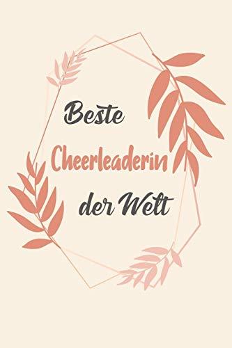 Beste Cheerleaderin Der Welt: A5 Liniertes • Notebook • Notizbuch • Taschenbuch • Journal • Tagebuch - Ein lustiges Geschenk für Freunde oder die Familie und die beste Cheerleaderin der Welt por Cheerleaderin Notizbücher