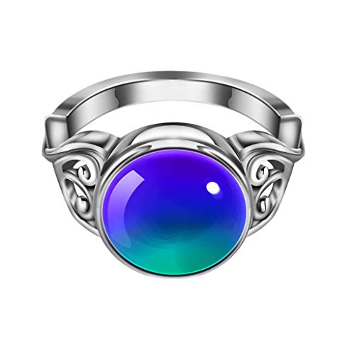Kintaz Luxurious Creative Diamond Ring Sense Temperature Change Men and Women Jewelry (9, Multicolor)
