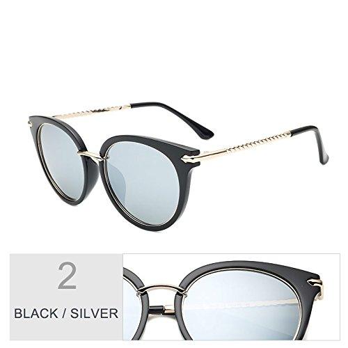 Aire Ojo De De Gafas Conducir Para Gato Libre TIANLIANG04 Negro Multi Clásico Sol Gafas Black Gafas Rosa Cateye Uv400 Mujer Silver Púrpura Polarizadas De Sol Al w6qHOAnd