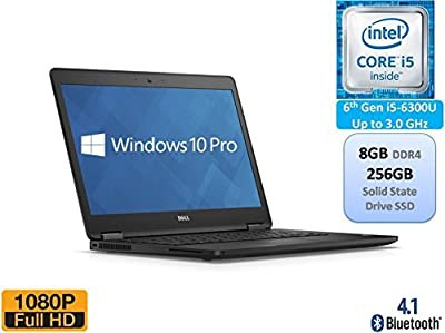 Dell Latitude E7470 Business Ultrabook 14 Inch Full HD 1080p Intel 6th Gen i5-6300U 8GB DDR4 256GB SSD Windows 10 Pro