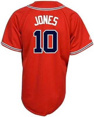 timeless design fba33 71f0e Amazon.com : MLB Men's Atlanta Braves Chipper Jones Scarlet ...