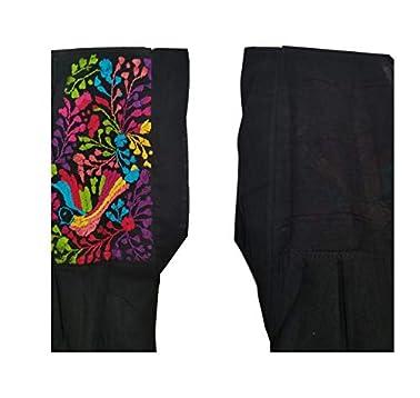 Amazoncom Vestido Manta Negro Grande Bordado En Colores