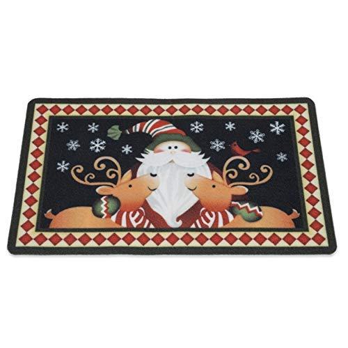 - Besti Christmas Welcome Mat (Indoor and Outdoor) Front Door or Entryway All-Weather Doormat | Cute Santa & Reindeer Holiday Print | Dirt, Mud, Snow, Water Absorbent