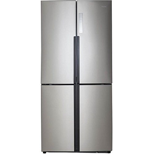 Haier 16.0 Cu. Ft. 4 Door Bottom Freezer Refrigerator Stainless Steel (4 Door Refrigerator)