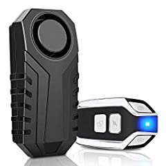 Onvian 113dB Wireless Anti-Theft Motorcycle Bicycle Vibration Alarm Waterproof Bike Security Alarm with RemoteSpecifications: An alarm need 3 AAA alkaline batteries ( included ) standby for 6-10 months A remote need a CR2032 button battery ( ...
