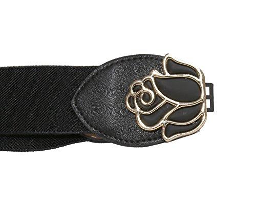 Modeway-Womens-15-Wide-Rose-Buckle-Elastic-Stretch-Glitter-Cinch-Waist-Belts