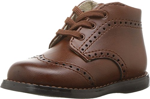 Footmates Baby Boy's Cole Laceup Perf First Walker (Infant/Toddler) Cognac Burnished Burnished Cognac