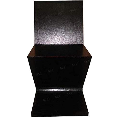 Black Ash Veneer - MLF Gerrit Thomas Rietveld Zig Zag Chair (7 Colors). Minimalist Art Design, Durability & Stability. 4 Flat Wooden Tiles Merged in A Z Using Dovetail Joints. Solid Wood with Ash Wood Veneer. (Black)