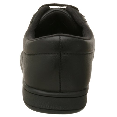 Easy Spirit Women's AP1 Sport Lace UP, Black Leather, 11 M