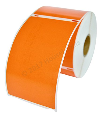 1 Roll; 300 Labels per Roll of DYMO-Compatible 30256 ORANGE Large Shipping Labels (2-5/16 x 4) -- BPA Free!