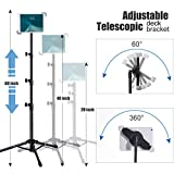 Ipad Tripod Stand, Weiyudang Height Adjustable 20