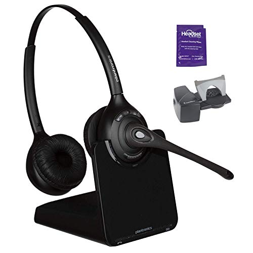 - Plantronics CS520 Wireless Headset System Bundled with Lifter and Headset Advisor Wipe (Certified Refurbished)
