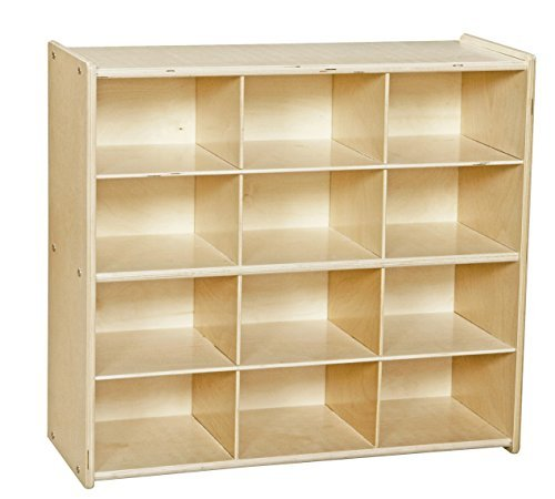 Contender C16129F Baltic Birch 12-Cubby Storage Unit w/out Tubs-Assembled