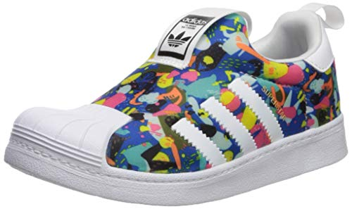 adidas Originals Baby Superstar 360 Sneaker, White/Black, 9K M US Toddler