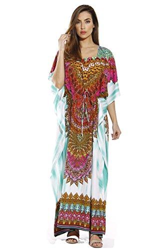 Riviera Sun 20443-GRN-L Caftan/Caftans for Women