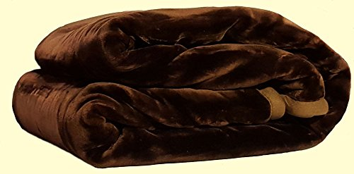 Solaron King Two-Ply Chocolate Brown Mink Blanket