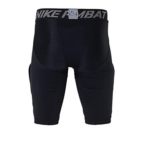 Pantaloncini a coste con piastra in carbonio a compressione iperstrona Nike Mens Pro Combat (XL, Nero)