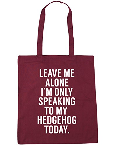 today only 42cm Shopping Leave Gym my I'm litres speaking x38cm me 10 Tote Burgundy to Beach HippoWarehouse Bag alone hedgehog FpxzxZ