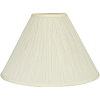 Allen Roth 12 5 In X 17 In Cream Fabric Bell Lamp Shade