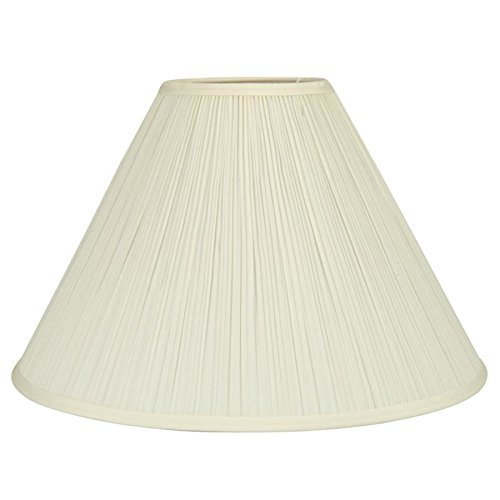 allen + roth 12.5-in x 18-in Cream Fabric Bell Lamp Shade