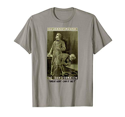 Vintage Dr Jekyll and Mr Hyde Tee-Halloween Dr. Jekyll Shirt (Dr Jekyll And Mr Hyde Cliff Notes)