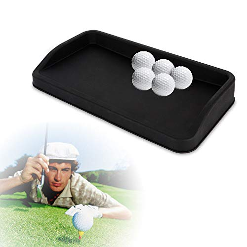 Qizhi Rubber Golf Ball Tray Large Can Hold 100 Golf Balls