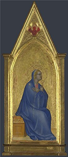 Oil Painting 'Giovanni Da Milano The Virgin Left Pinnacle Panel ' Printing On Polyster Canvas , 10 X 23 Inch / 25 X 58 Cm ,the Best Game Room Gallery Art And Home Decor And Gifts Is This High Quality Art Decorative Prints On Canvas