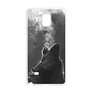 Custom Fantasy Invierno Wolf Howling Protective Skin Case for Samsung Galaxy Note 4